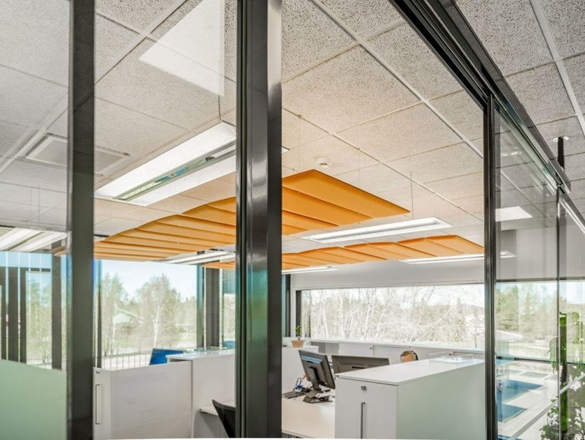 Polyester fibre acoustic ceiling clouds ECOSTRONG | Acoustic ceiling clouds by Slalom