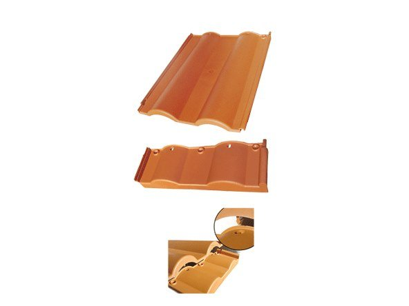 Recycled plastic roof tile ECOTEGOLA® LIBERTY ST by PROJECT FOR BUILDING