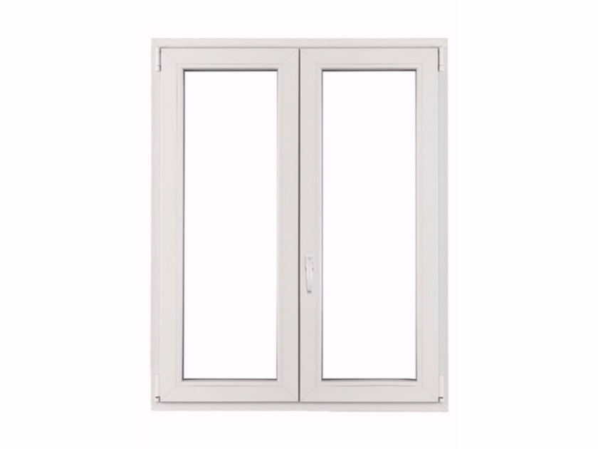 Finestra ad anta-ribalta con doppio vetro in PVC ECOTEK by FOSSATI PVC