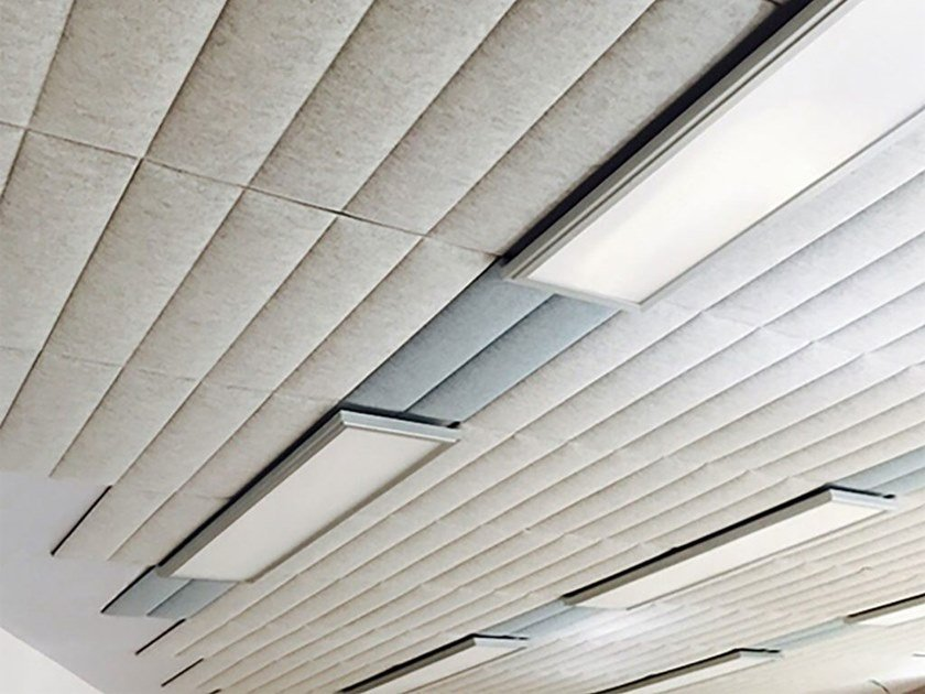 Polyester fibre Decorative acoustic panel ECOWALL CEILING by Slalom