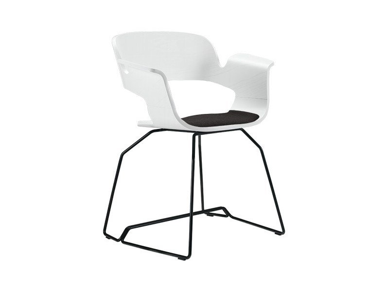 Charmant Sled Base Chair With Integrated Cushion ECRIu0027 | Sled Base Chair By Albaplus