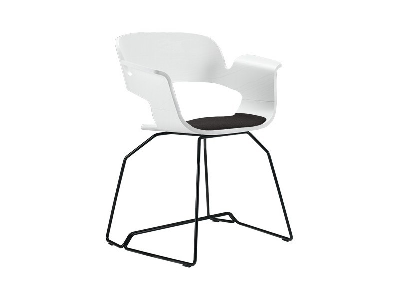 Sled base chair with integrated cushion ECRI' | Sled base chair by Albaplus
