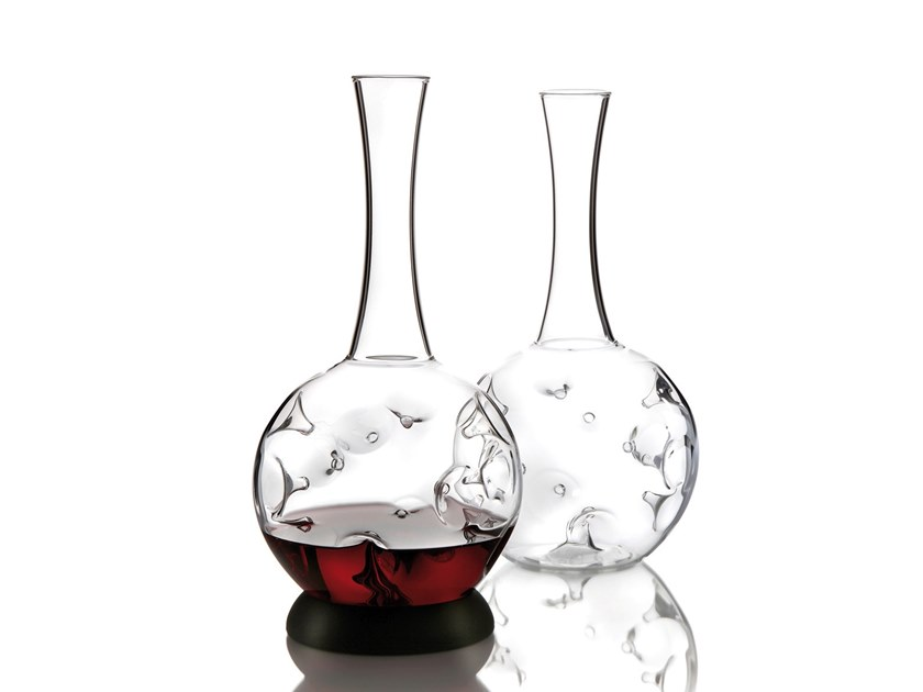 Borosilicate glass decanter EDDY by Zieher