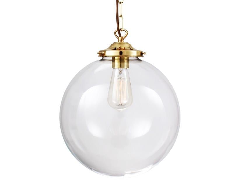 Direct light handmade pendant lamp EDEN 300MM CLEAR SPHERE PENDANT by Mullan Lighting