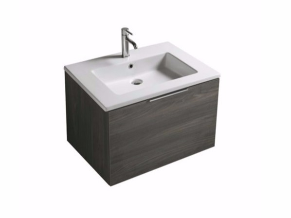 Wall-mounted vanity unit with drawers EDEN - 7241 by GALASSIA