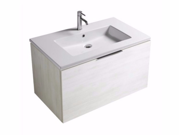 Wall-mounted vanity unit with drawers EDEN - 7243 by GALASSIA
