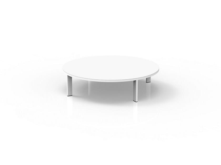 Round cement garden side table EDEN | Garden side table by Talenti