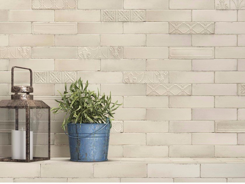 Porcelain stoneware wall tiles with brick effect EDEN by Ragno