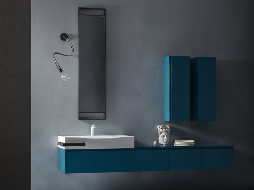 Lacquered wall-mounted vanity unit with drawers EDEN | Lacquered vanity unit by Cerasa