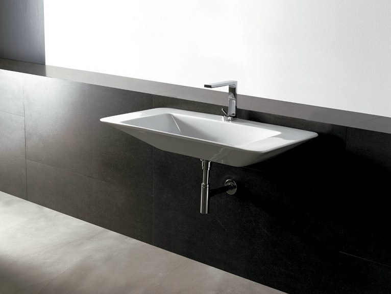 Rectangular ceramic washbasin EDGE 100X50 | Washbasin by Alice Ceramica