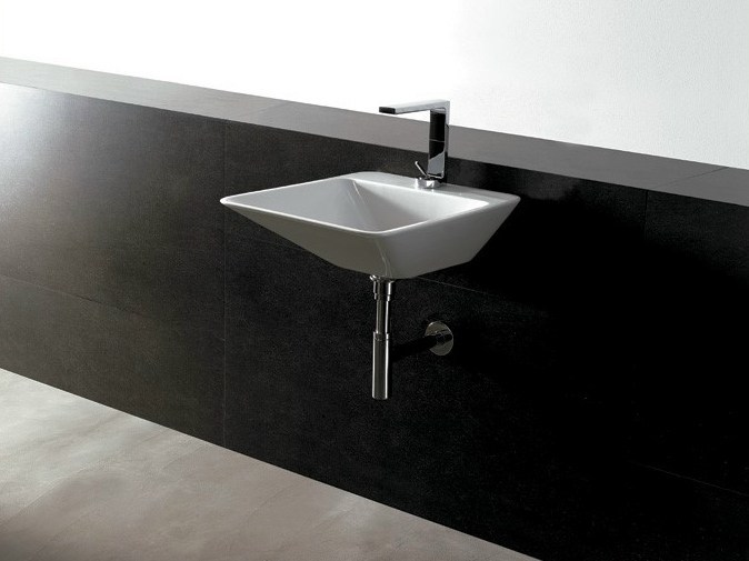 Rectangular ceramic washbasin EDGE 44X54 | Washbasin by Alice Ceramica