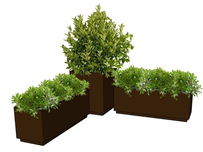 Stainless steel planter EDGE by BLOSS