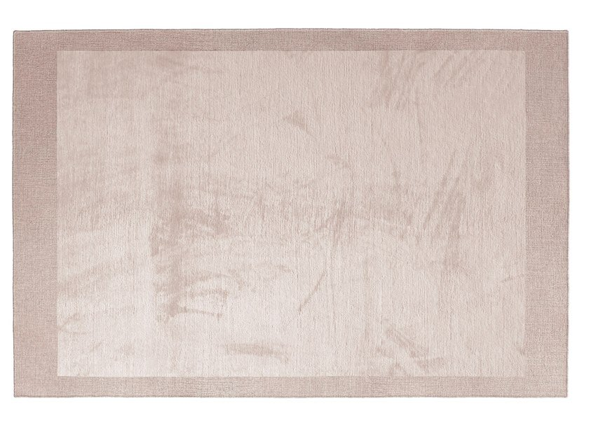 Solid-color handmade silk rug EDGE by GIORGETTI