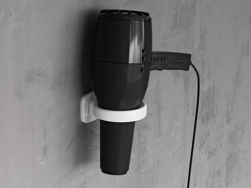 Porta asciugacapelli a muro in metallo EDGE | Porta asciugacapelli by NOVELLINI