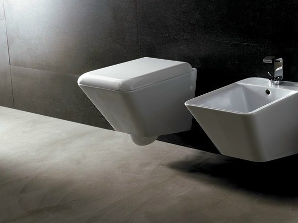 Wall-hung ceramic toilet EDGE QUADRA | Wall-hung toilet by Alice Ceramica