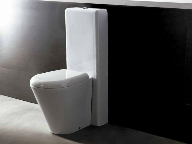 Close coupled ceramic toilet EDGE TONDA | Close coupled toilet by Alice Ceramica