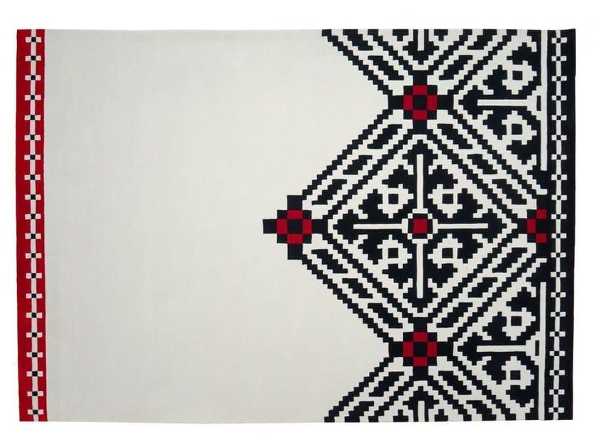 Tappeto fatto a mano rettangolare in lana a motivi geometrici EDGY by Dare to Rug
