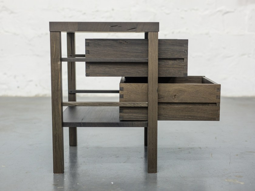 Bog oak side table with drawers EDI by EDWOOD