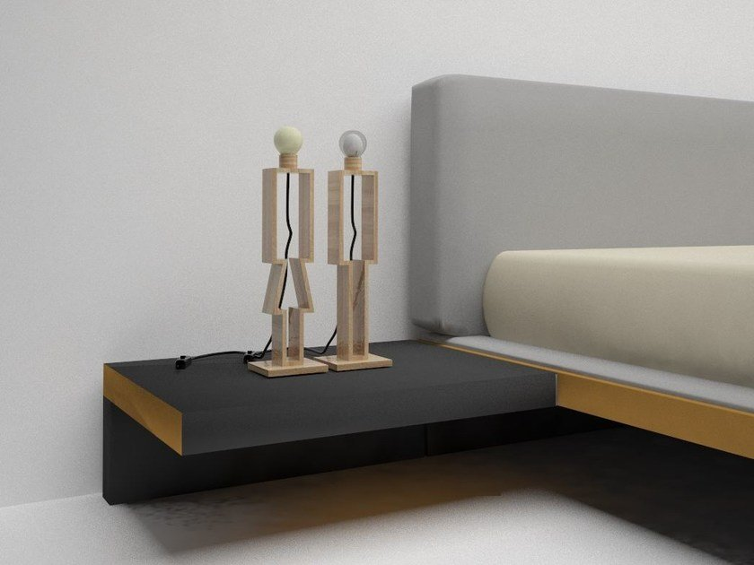 Natural stone bedside lamp EDI&SON by Manufatti Viscio