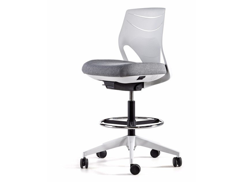 Swivel task chair with 5-Spoke base with casters EFIT | Drafting stool by ACTIU
