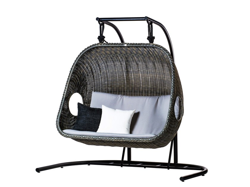 2 Seater garden hanging chair EGG   2 Seater garden hanging chair by 7OCEANS DESIGNS
