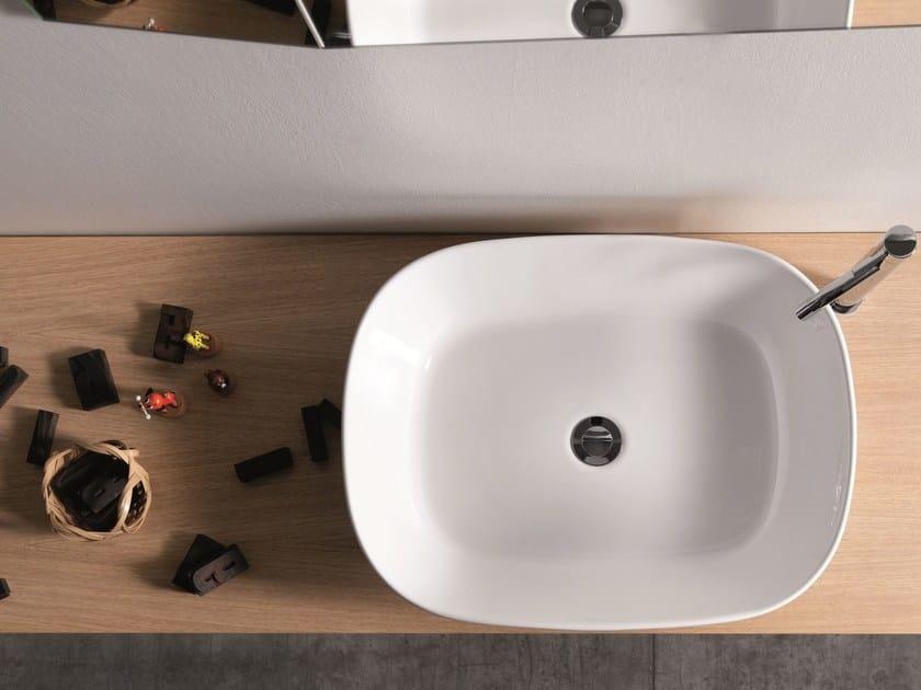 Countertop ceramic washbasin EGG by Ex.t
