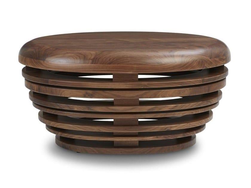 Walnut side table EGG | Walnut coffee table by REDA AMALOU DESIGN