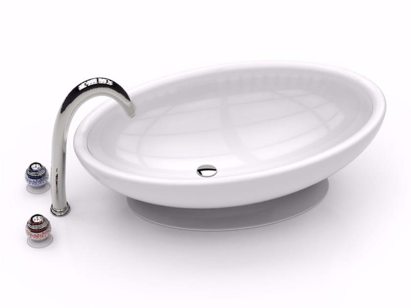 Countertop oval Adamantx® washbasin EGG by ZAD ITALY