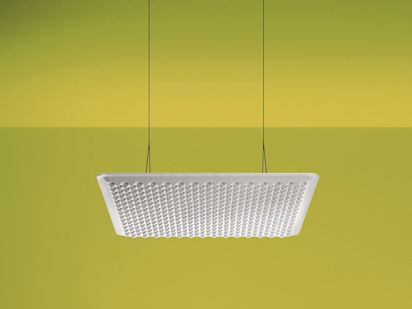Fabric hanging acoustic panel EGGBOARD 800X800 - WITHOUT LIGHT by Artemide