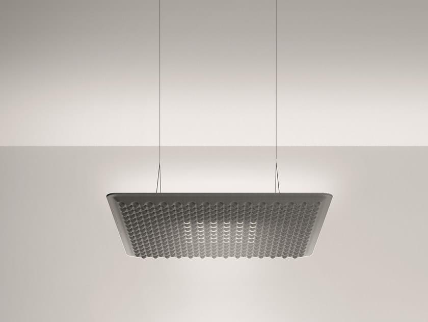Hanging acoustic panel / pendant lamp EGGBOARD MATRIX 800X800 by Artemide