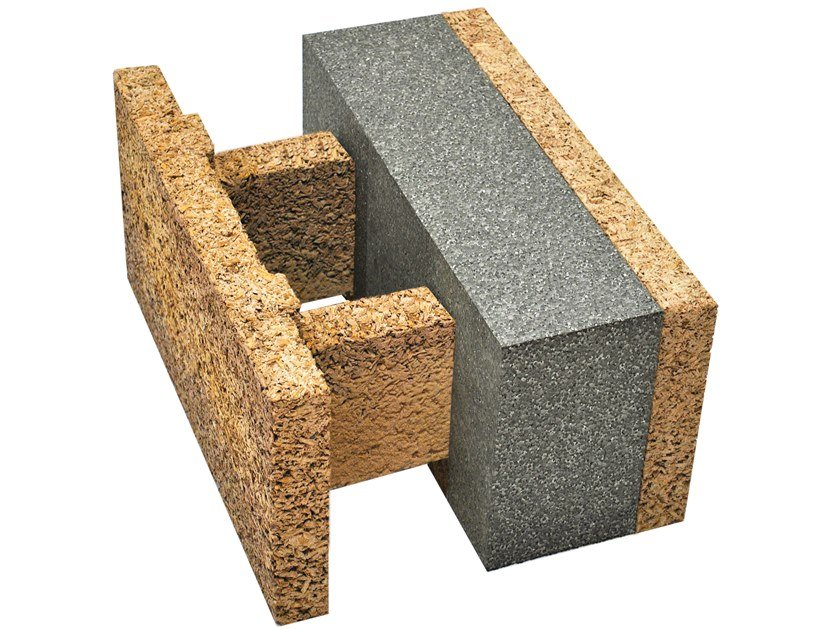 Blocco da tamponamento in legno-cemento EGH 38/19,5 by Legnobloc