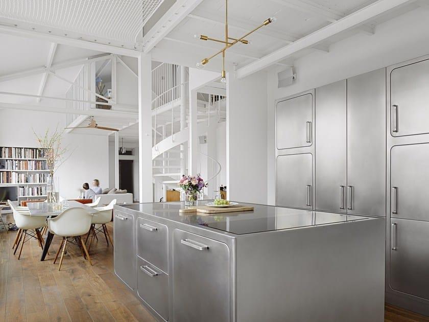 Küche aus Edelstahl für Gewerbe EGO By ABIMIS Design Alberto Torsello