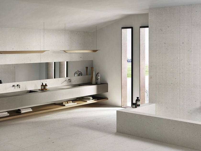 Porcelain stoneware wall/floor tiles with stone effect EGO AVORIO by Provenza by Emilgroup