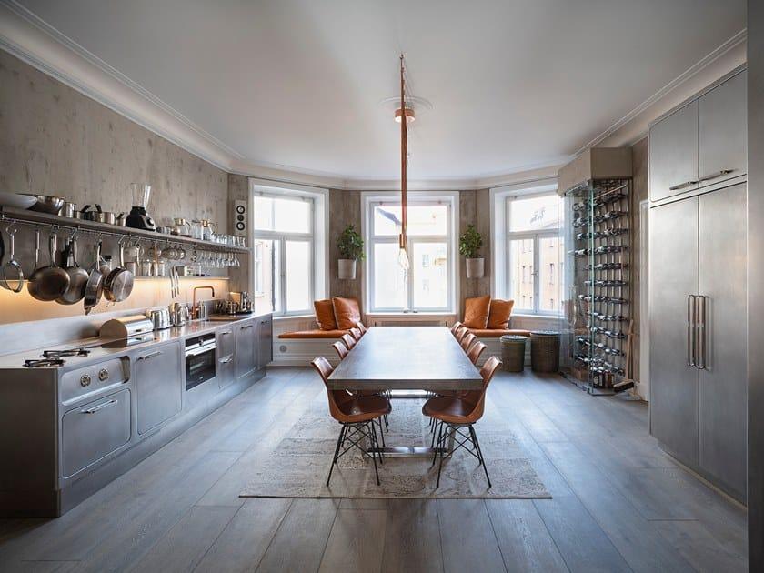 Nach Mass Küche aus Edelstahl EGO By ABIMIS Design Alberto ...