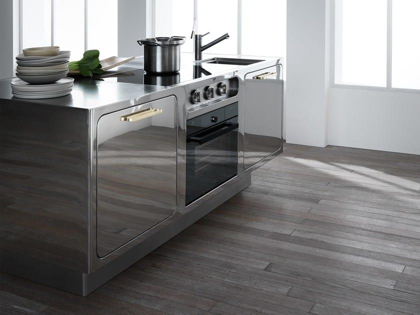 Cucina su misura in acciaio inox lucidato a specchio EGO MIRROR - ABIMIS