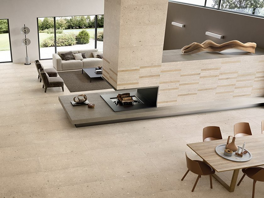 Porcelain stoneware wall/floor tiles with stone effect EGO SABBIA by Provenza by Emilgroup
