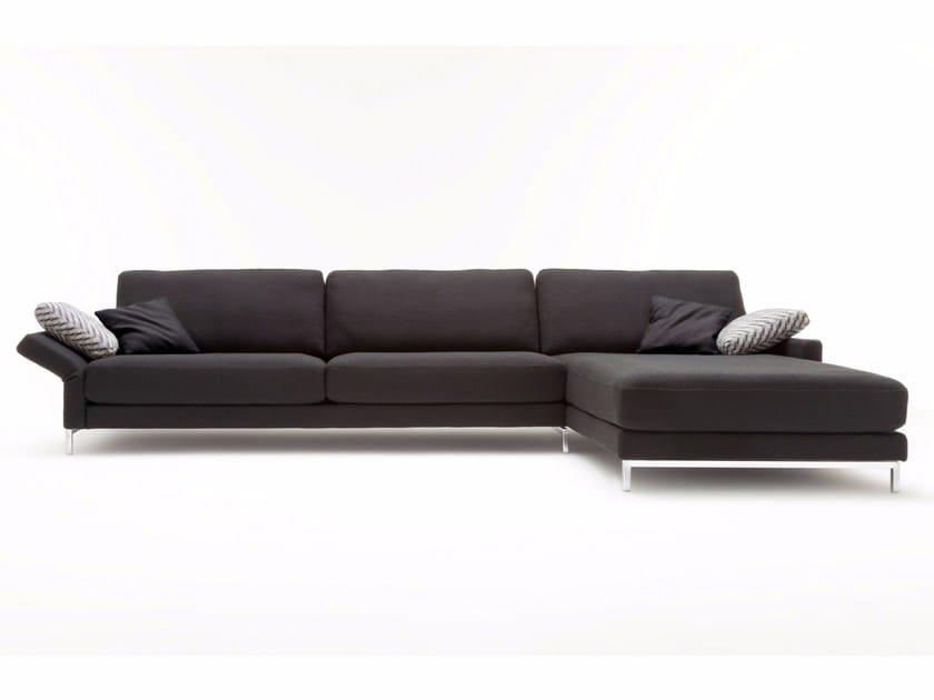EGO | Divano con chaise longue Collezione Ego By Rolf Benz design ...