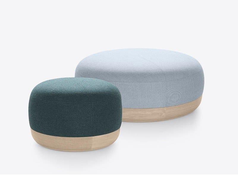 Round fabric pouf EGON | Pouf by ALKI