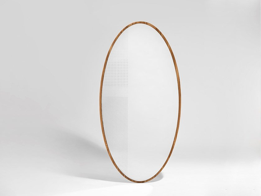 Oval mirror EHO by Nunc