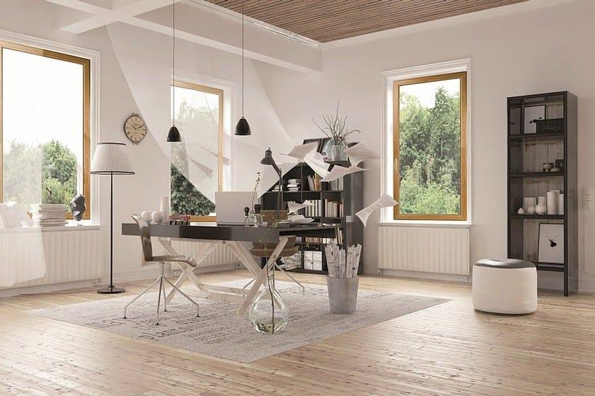 Aluminium and wood thermal break window EKU PERFEKTION® WOOD by PROFILATI