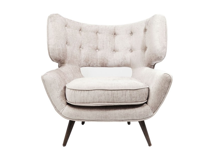 Tufted armchair with armrests EL CAPITAN | Armchair by KARE-DESIGN