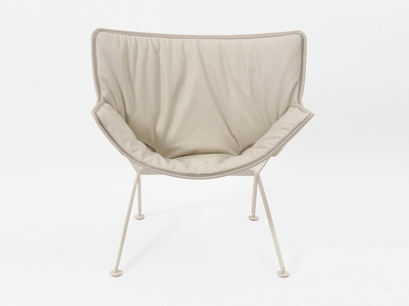 Upholstered leather armchair EL SANTO JIFFY by Dante