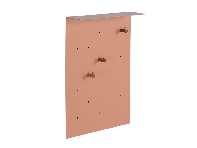 Wall-mounted powder coated steel coat rack EL WARDROBE by KONSTANTIN SLAWINSKI