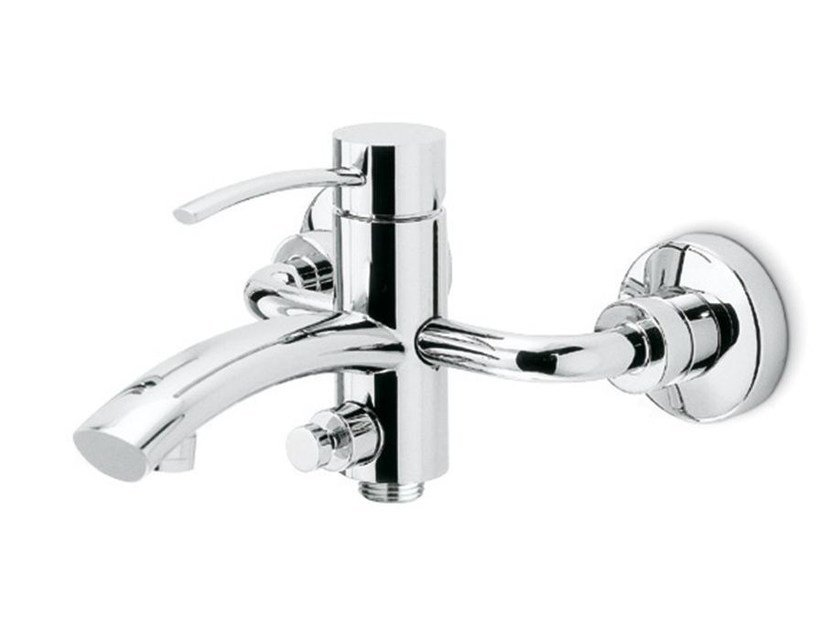 Wall-mounted single handle bathtub mixer with diverter EL-X | Wall-mounted bathtub mixer by newform