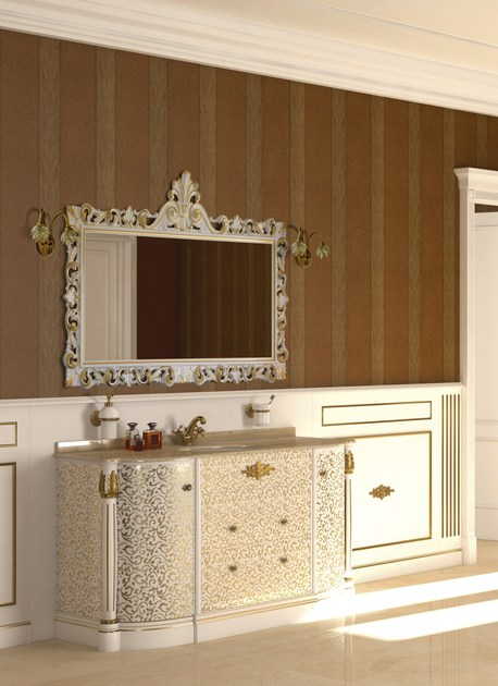 Lacquered vanity unit with mirror ELBA CM01E by LA BUSSOLA