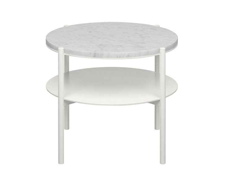Powder coated steel bistro side table ELBE II by e15
