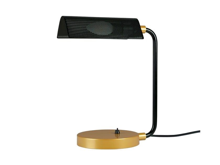 Perforated metal table lamp ELDA by Brossier Saderne
