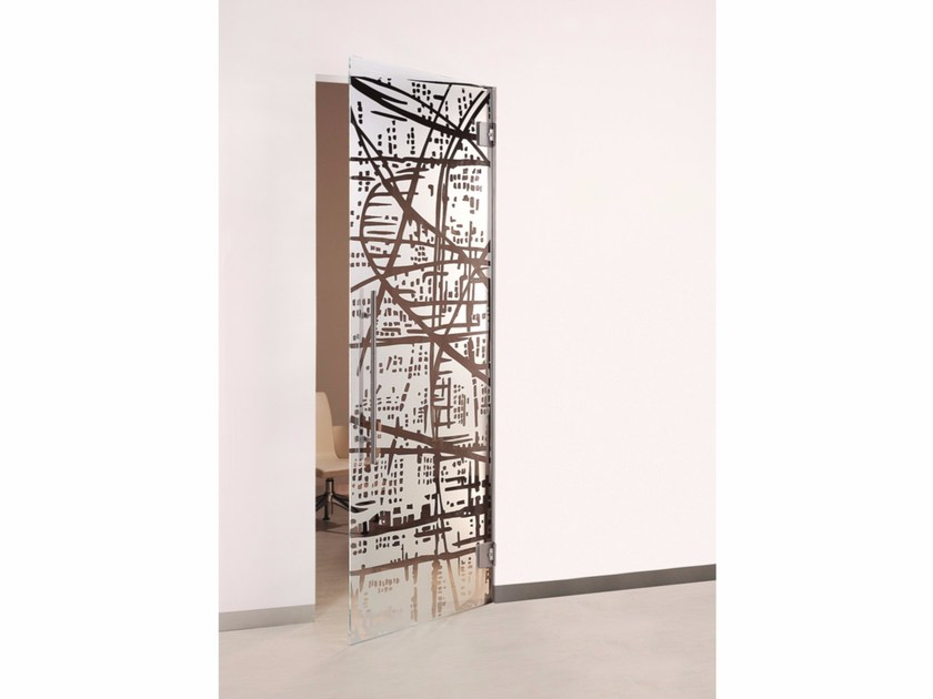 Hinged glass door ELECTRA by Casali