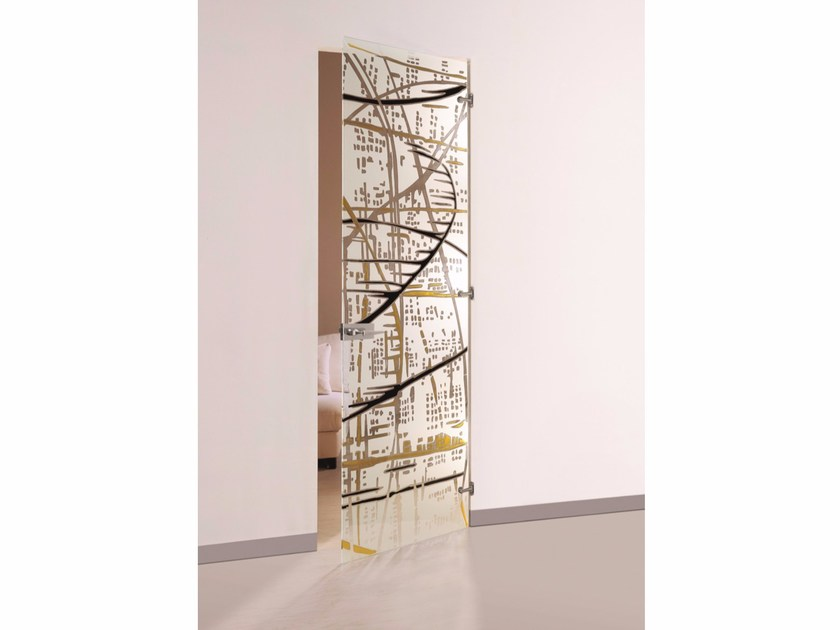 Hinged decorated glass door ELECTRA DIPINTA by Casali
