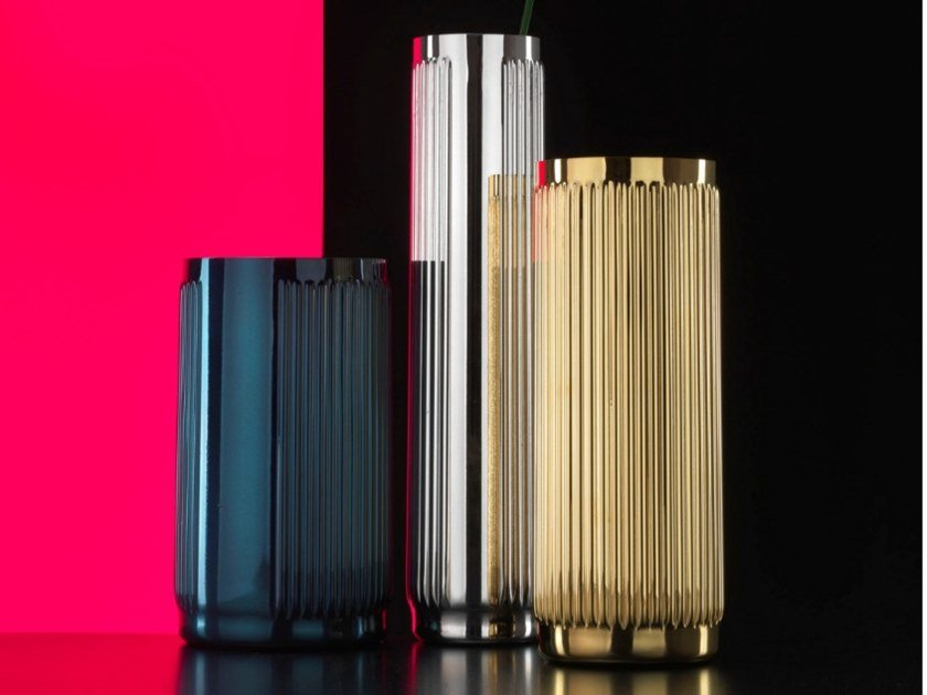 Silver plated vase ELECTRO BRERA | Vase by RINO GREGGIO ARGENTERIE